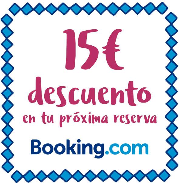 15€ descuento en tu próxima reserva en Booking.com