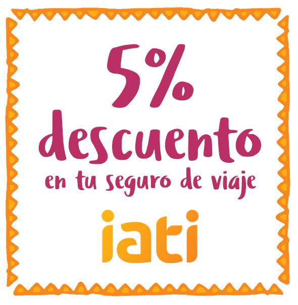 5% descuento en tu seguro de viaje IATI